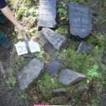 206 m Jizchak Jehuda? Fragmente, Name vielleicht nicht vollständig, kein Datum